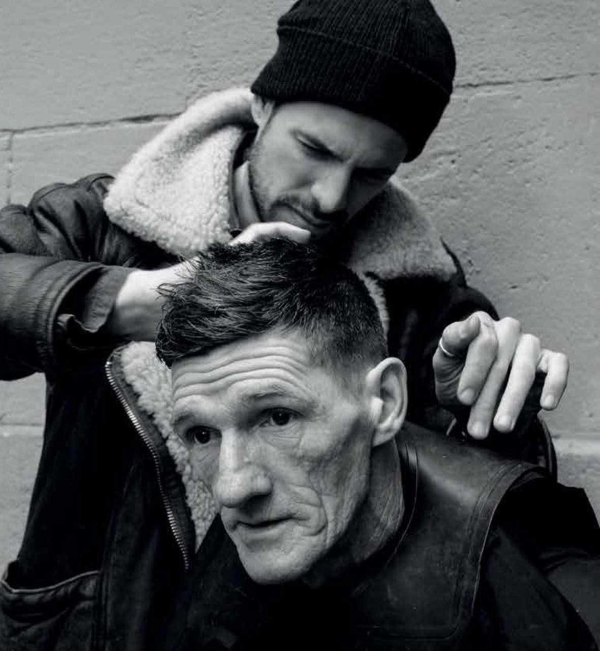 joshua coombes, do something for nothing, barber, hair, homelessness